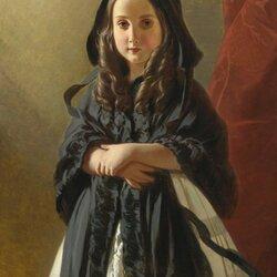 Пазл онлайн: Портрет Шарлотты Бельгийской, дочери Леопольда I
