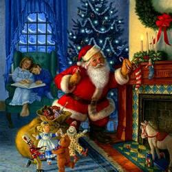 Пазл онлайн: Подарки от Санта Клауса