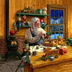 Пазл онлайн: Поделки Деда Мороза