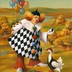 Пазл онлайн: Датский клоун