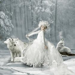 Пазл онлайн: Снежная принцесса