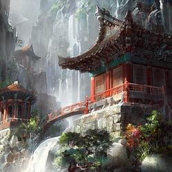 Пазл онлайн: Храм в горах