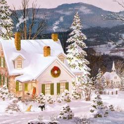 Пазл онлайн: Рождество с друзьями