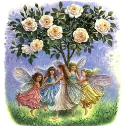 Пазл онлайн: Танец вокруг розы