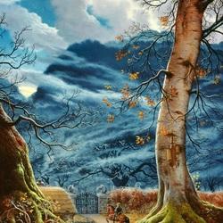 Пазл онлайн: Заколдованные деревья