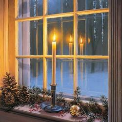Пазл онлайн: Праздничное окно