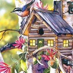 Пазл онлайн: Маленькая птичка
