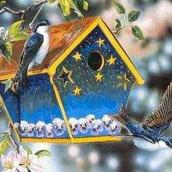 Пазл онлайн: Птички певчие