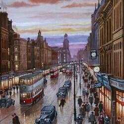 Пазл онлайн: Торговая улица Манчестера