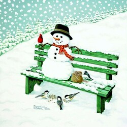 Пазл онлайн: Зимний гость
