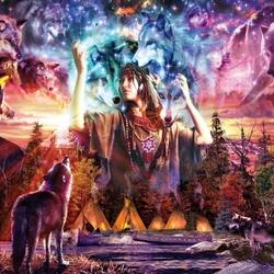 Пазл онлайн: Волчица