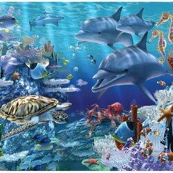 Пазл онлайн: Морское царство