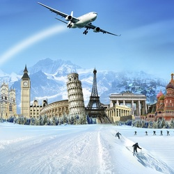 Пазл онлайн: Где провести зиму?