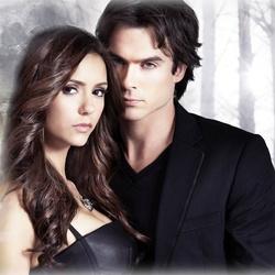 Пазл онлайн: Деймон  и Елена