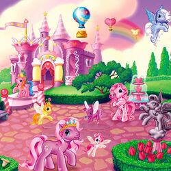Пазл онлайн: Королевство пони
