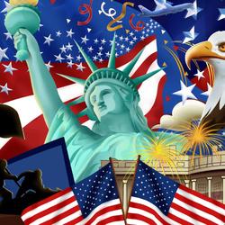 Пазл онлайн: Америка