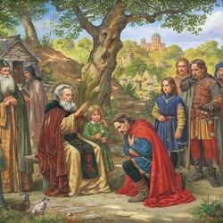 Пазл онлайн: Благословение Феодосия Святого
