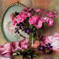 Пазл онлайн: Розовый июль