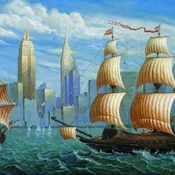 Пазл онлайн: Второй визит Колумба