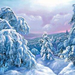 Пазл онлайн: Большой снег