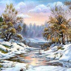 Пазл онлайн: Ранняя зима