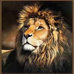 Пазл онлайн: Львиный портрет