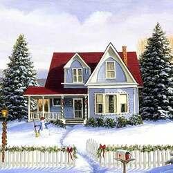Пазл онлайн: Снеговичок приглашает