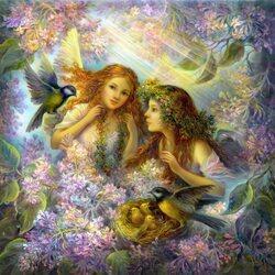 Пазл онлайн: Заботливые ангелы