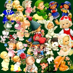 Пазл онлайн: Кукольный коллаж