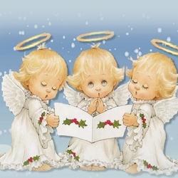 Пазл онлайн: Ангелы поют
