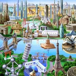 Пазл онлайн: World Landmarks / Достопримечательности Мира