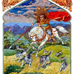 Пазл онлайн: Егорий - волчий пастырь