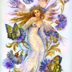 Пазл онлайн: Васильковая фея