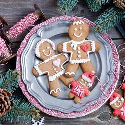 Пазл онлайн: Рождественские печеньки