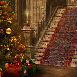 Пазл онлайн: Лестница, ведущая в новый год