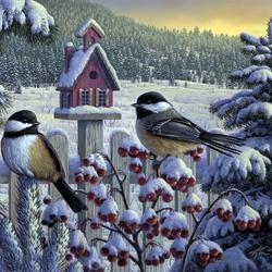 Пазл онлайн: Зимнее угощение