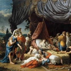 Пазл онлайн: Смерть жены Дария