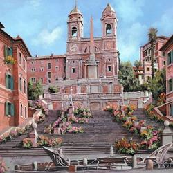Пазл онлайн: Рим. Площадь Испании