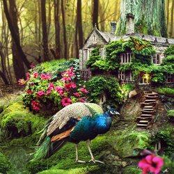 Пазл онлайн: Сказочный лесной дом