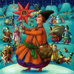 Пазл онлайн: Колядки (Ночь перед Рождеством)