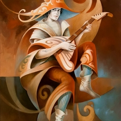 Пазл онлайн: Музыкант