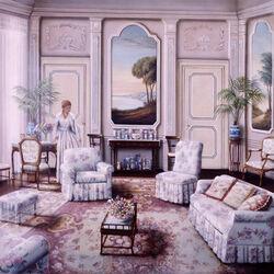 Пазл онлайн: Белая гостиная