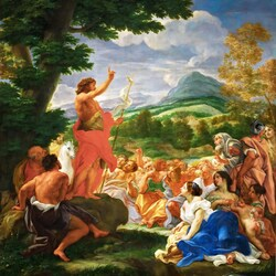 Пазл онлайн: Проповедь Иоанна Крестителя