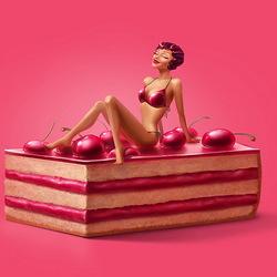 Пазл онлайн: Вишневое пироженое