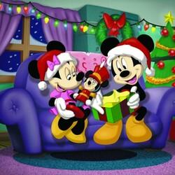 Пазл онлайн: Микки и Минни встречают Новый год