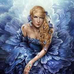 Пазл онлайн: Девушка-цветок