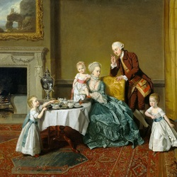 Пазл онлайн: Джон, 14-й граф Уиллоуби де Броук, с семьей