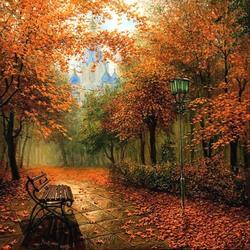 Пазл онлайн: Осенний парк