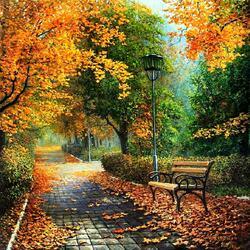 Пазл онлайн: Парк осенью