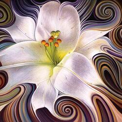 Пазл онлайн: Танцующая лилия